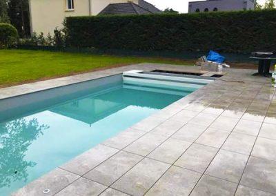Terrasse piscine dalles sur plot- Lenio
