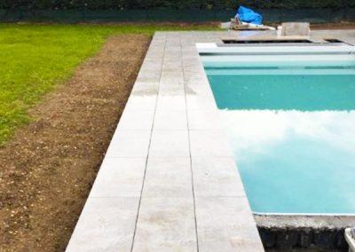 Terrasse piscine dalles sur plot- Lenio- Metz