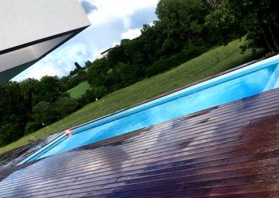 Terrasses Piscine en Ipé